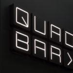 """neon letters """"quad bar"""""""