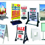 collage of sidewalk signs or a-frame signs