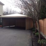 Garage structure outside home