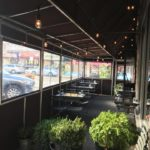 Interior of winter vestibule/ outdoor restaurant room enclosure
