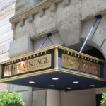 structural canopy for Hotel Vintage fancy gold with lights and