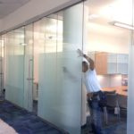 privacy frosting on office cubicles